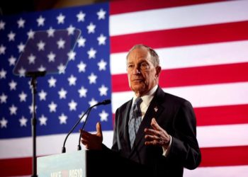 FILE PHOTO: Democratic presidential candidate Michael Bloomberg speaks during a campaign event at the Bessie Smith Cultural Center in Chattanooga, Tennessee, U.S. February 12, 2020.  REUTERS/Doug Strickland/File Photo