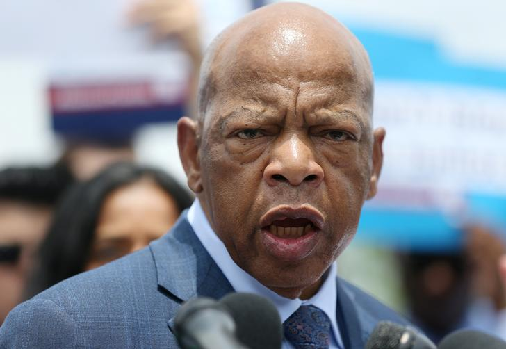 U.S. Rep. John Lewis speaks at a news conference held by Democrats on the state of voting rights in America the U.S. Capitol Building in Washington, U.S., June 25, 2019. REUTERS/Leah Millis