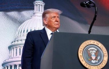 FILE PHOTO: U.S. President Donald Trump arrives to speak in Arlington, Virginia, U.S., August 21, 2020. REUTERS/Tom Brenner/File Photo