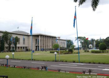Palais de la nation à Kinshasa. Radio Okapi/Ph. John Bompengo